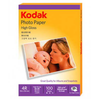 A251099 - Kodak Photo Paper High Gloss 4R 100 Sheets