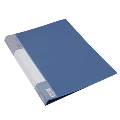 Blue-Plastic-Cover-20-Clear-Pockets-A4-Clear-Book-File-Office-School-Discount-50
