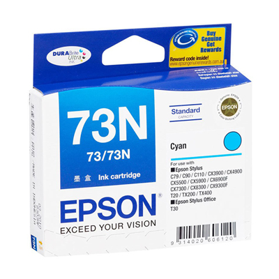D101018 - Epson 73N Cyan Ink Cartridge