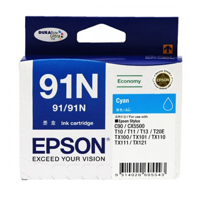 D101044 - Epson 91N Cyan Ink Cartridge
