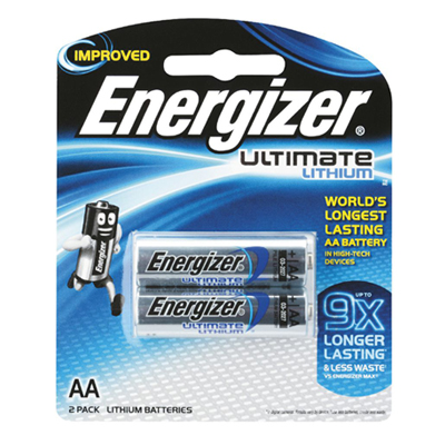 E049024 - Energizer Ultimate Lithium AA 2 Pack Batteries
