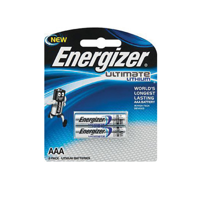 E049061 - Energizer Ultimate Lithium AAA Batteries 2 Pack