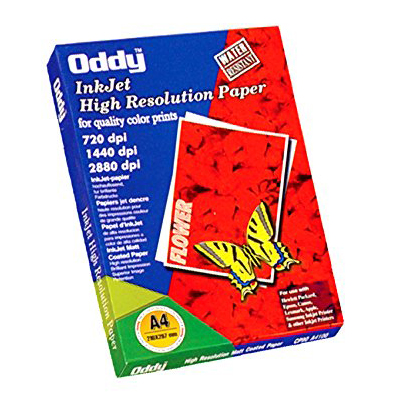 R121006 - Oddy A4 Size High Resolution Matt Coated Paper - 120GSM