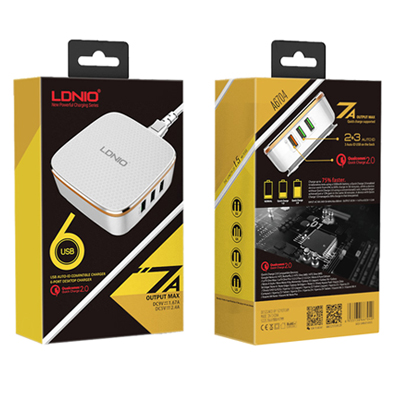 Z011052 - Ldnio A6704 Qualcomm Fast Quick Charger 6 Port USB Charger
