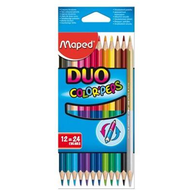 M322002 - Maped Colour Pencils 12C Duo 829600