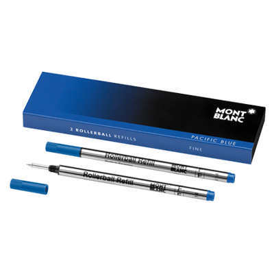 P101096 - Mont Blanc 2 Rollerball Refills (F) Blue