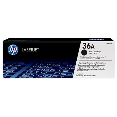 R061008 - HP 36A Black Original LaserJet Toner Cartridge, CB436A