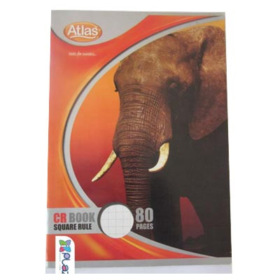 C081029 - Atlas CR Book 80 Pages Square Rule