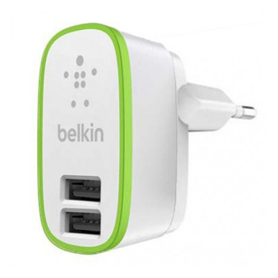 T181078 - Belkin 2 Port Home Charger Round