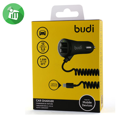 T181100 - Budi 3 in 1 Car Charger