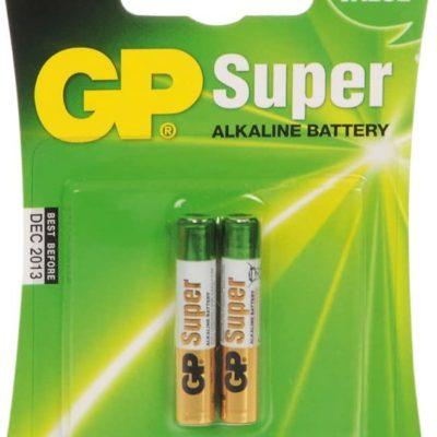Gp Batteries 25a-c2 Pack of 2 Super Alkaline AAAA Batteries